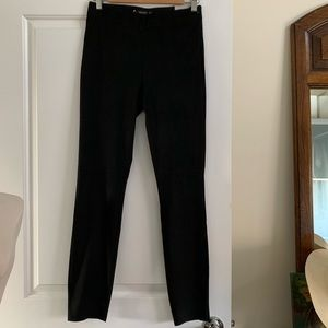 Zara Black Faux Suede Legging Pants M High Waist